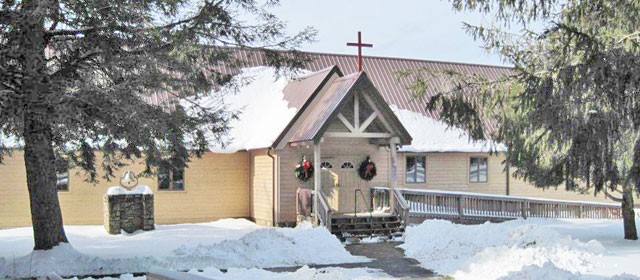 Mountainside Lutheran Church in Winter